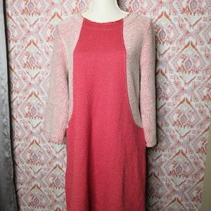 Lilla P Women Size Medium Sweater Shift Dress Pink